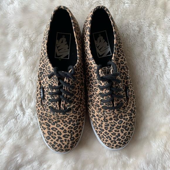 leopard print vans size 6